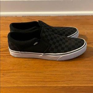 Vans black checkerboard